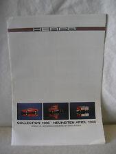 vintage HERPA toy car catalog Germany 1986 Porsche VW Mercedes BMW Jaguar Chevy