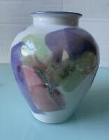 Vintage Studio Art Pottery Clay Heavy Ceramic Glazed Vase Cypher Signed