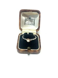 Superb Vintage Sterling Silver 925 Cultured Pearl Solitaire Ring Size S #393