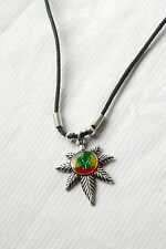 Kette Anhänger Hanf Blatt_Necklace Hemp Leaf pendant_Weed _Rasta, Reggae