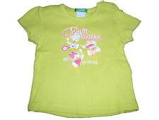 Benetton tolles T-Shirt Gr. 56 / 62 grün mit Daisy Duck Motiven !!