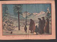MESSE DE NOEL MONTAGNE EGLISE  Christmas Mountain Village    ILLUSTRATION 1932