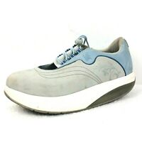 MBT Garissa Womens 8.5 Walking Comfort Toning Shoes Baby Blue Gray
