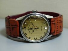 Vintage FAVRE LEUBA GENEVE SEAKING enroulement OLD USED Watch e558 antique