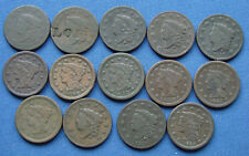 *NICE ASSORTED LOT OF LARGE CENTS CORONET HEAD & BRAIDED HAIR - ESTATE FRESH*