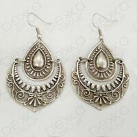 Silver Teardrop Earrings Ottoman Turkish Ethnic Tribal Gypsy Boho