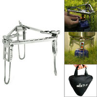 Folding Triangle Stand for One Burner Stove Portable Cradle Bracket Pot Camping