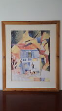 Very Colourful Interesting Original Abstract Painting/Artwork Picture 2 Figures