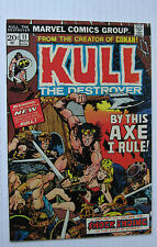 Kull The Destroyer #11 (MCG 11/73) VF 'By This Axe I Rule!' Ploog-c/a. Nice!!