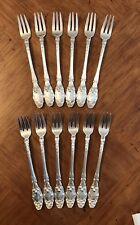 Gorham Virginiana Sterling Silver Cocktail Seafood Oyster Fork Set Of 12