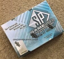 2016-17 UPPER DECK SP GAME USED HOCKEY HOBBY BOX FREE SAME DAY PRIORITY SHIPPING