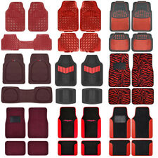 Red All Weather Heavy Duty Universal Car Floor Mats For Auto Van Truck Suv Fits 2012 Toyota Corolla