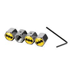 Caps Anti Theft Locking Cover Car Wheels Tire Valve Stem Dust Batman Emblem Q