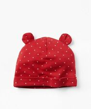 GAP Baby Boys / Girls Size 3-6 Months Red / White Polka Dot Knit Bear Hat w/Ears