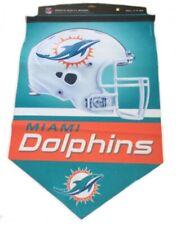 "Miami Dolphins NFL American Football Helmet Logo 17"" x 26"" Wall Flag Pennant"