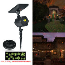 Solar Powered RG Laser Light Moving Garden Lawn Landscape Xmas Projector Lamp