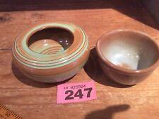Prinknash Abbey Studio Pottery Posy Vase & Similar Bowl made in Red Earthenware