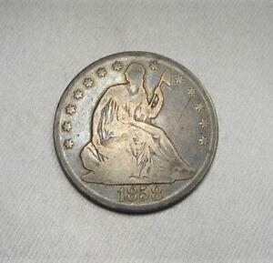 1858-O Silver Seated Liberty Half Dollar Coin AK508