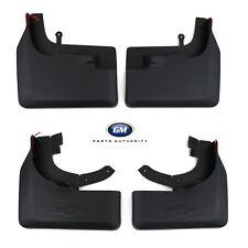 2019 Chevrolet Next Gen Silverado Front & Rear Flat Splash Guards Black OEM GM