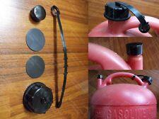 DISCONTINUED EAGLE Plastic Gas Can Cap Set 1 Black Closed +1 Rear Vent Cap PG-5
