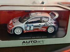 AutoArt SLOT Car 1:32 PEUGEOT 206 WRC 2002 NEW Lights Scalextric 13502 SILVER