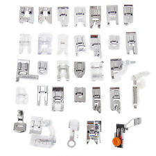 Silver Sewing Machine Presser Foot Feet Kit fit for Brother Singer - 32pcs