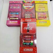 Lip Smackers  Collectors Tin Box Set of 4 Lip Balm Choose Your Flavors