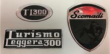 Scomadi TL300 Gel Badge Triple Pack. Chrome and Carbon