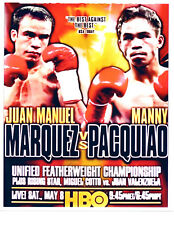 JUAN MANUEL MARQUEZ  MANNY PACQUIAO PHOTO POSTER  BOXING MATCH PROMO