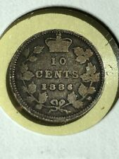 1886 Small 6 Canada 10 cents lot 3