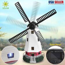 New ListingSolar Powered Led Windmill Lighthouse Spinner Garden Lawn Lamp Xmas Decor Gift