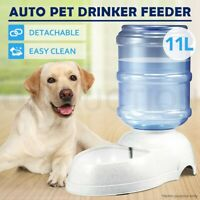 11L Pet Water Feeder Automatic Dispenser Dog Cat Puppy Bottle Bowl Dish Drinking