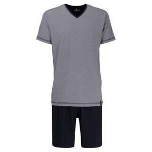 Tom Tailor Herren kurzer Schlafanzug Baumwolle Nevada Shorty Single Jersey