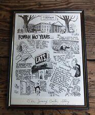 THE JIMMY CARTER STORY 1976 PAT OLIPHANT MOCKING POLITICAL CARTOON GEORGIA TO DC