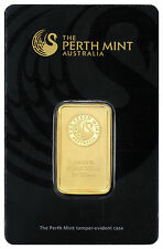 Perth Mint 20 Gram .9999 Gold Bar -New Sealed With Assay Certificate SKU27301
