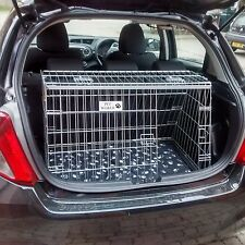 PET WORLD TOYOTA YARIS SLOPING CAR DOG BOOT CAGE PUPPY TRAVEL SAFETY CRATE PET