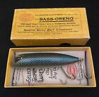 RARE COLOR SOUTH BEND #973 BASS ORENO WITH INTRO BOX AND EARLY CATALOG