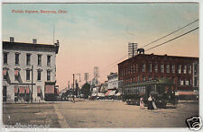Lithograph - Bucyrus, Ohio - Street Scene - early 1900s