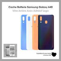 Vitre arriere cache batterie coque pour Samsung galaxy A40 adhesif + logo