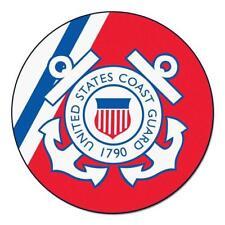 "Fan Mats Coast Guard Round Rug 44"" diameter 9551"