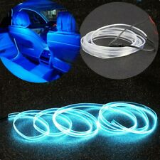 Universal 2M LED Car Interior Wire Strip Atmosphere Cold Light Blue Decor Strip
