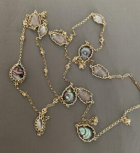 New Kendra Scott Gwenyth Long Strand Necklace Abalone $158.00