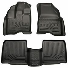 Husky Liners WeatherBeater Floor Mats - 3pc - 98761- Ford Explorer 11-14 - Black