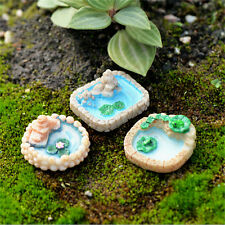 1x resin Moss micro landscape ornaments lotus pool mix size fairy garden deNTPD