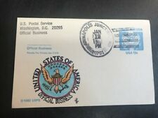 Uz2 Postal Card 1983 Official Mail 13c with Colored Seal L951 Pm Annapolis Jct