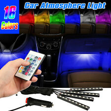 4x LED Car Charge Interior Accessories Floor Decorative Atmosphere Lamp Light US