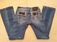 EUC! Women's Miss Me Destroyed Embellished Boot Cut Jeans JP4897-45 Sz 25