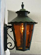 Sconce Porch / Wall Light Solid Copper Vintage Mission Arts & Crafts  Patina