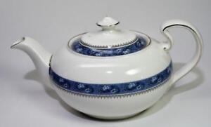 "AYNSLEY Bone China England BLUE MIST 6""h 5 Cups Teapot"