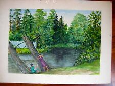 ANTIQUE RUSSIAN SOVIET PAINTING SOLOVIEV 1962 ARKHANGELSKOE MOSCOW NATURE